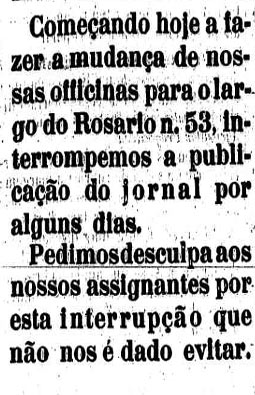 Oficinas do Estado mudam para o Largo do Rosário, 53.