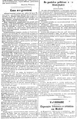 """""""Os partidos políticos e as transações"""", primeira colaboração de Julio Mesquita"""