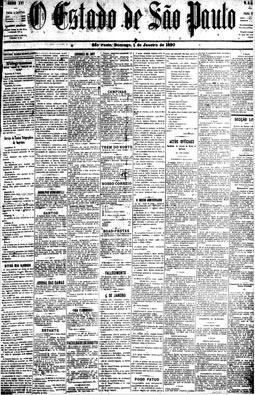 A Província de São Paulo passa a chamar-se O Estado de S. Paulo, 5/1/1890