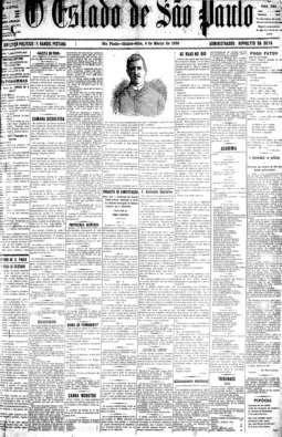 Em 6/3/1890, publicou-se um clichê como ilustração de primeira página, um retrato do caixeiro José Teixeira da Silva, morto num incêndio da Loja da China.