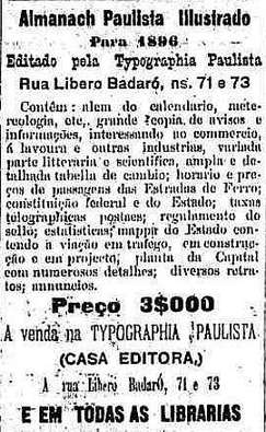 Almanach Paulista- 4/2/1896