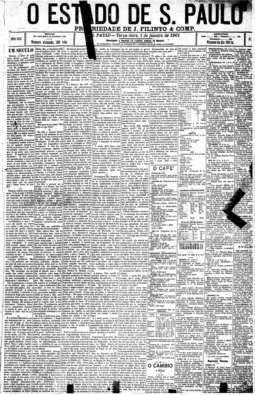 Na primeira página um editorial sobre o novo século, 1/1/1901