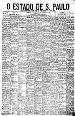 Em editorial (1.ª coluna), Estado faz uma análise do legado deixado pela monarquia, 24/7/1901