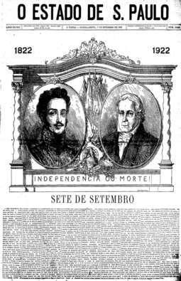 Centenário da independência do Brasi, 7/9/1922