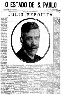 Morte de Julio Mesquita, 16/3/1927