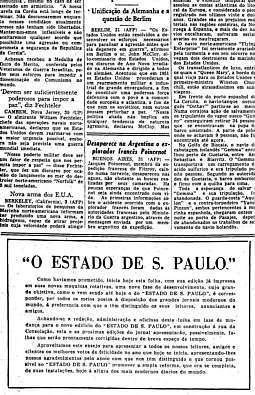 Mudança provisória de sede, 1/1/1952