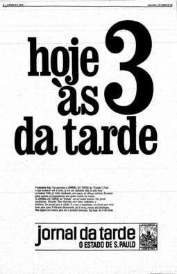 Começa a circular o Jornal da Tarde, 4/1/1966