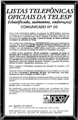 OESP Gráfica começa a fazer as Listas Telefônicas