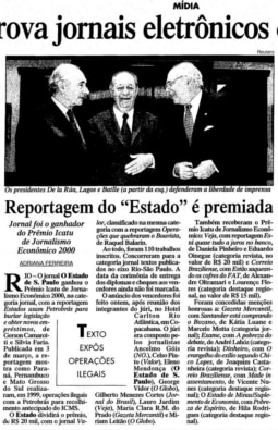 Estado, vencedor do Prêmio Icatu de Jornalismo Econômico