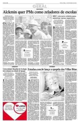 Estadão.com.br lança epopeia dos Villas Bôas
