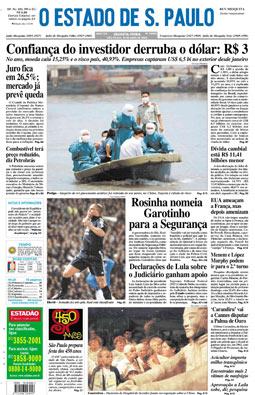 Capa da edição 40.000, 24/4/2003