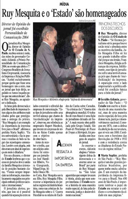 Ruy Mesquita recebe o Prêmio Personalidade da Comunicação 2004