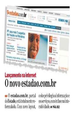 Nova reformulação do portal estadao.com.br