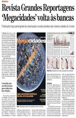 Urbanização e os desafios das maiores cidades do mundo, temas da Revista Megacidades, Agosto/2008