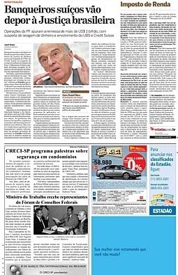 Série de reportagens sobre s bancos suíços no Brasil foi premiada