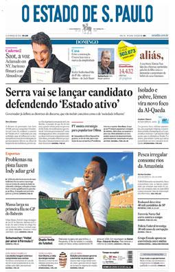 Reformulação gráfica do Estado, 14/3/2010