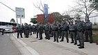 O policiamento nas redondezas do novo estádio corintiano foi reforçado. A medida foi adotada para garantir segurança aos torcedores que vão ao Itaquerão