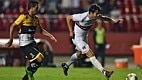 Oito minutos depois, Ganso é acionado na área e toca para Kaká fazer o segundo gol.