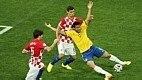 Porém, a partida ficou marcada por um erro da arbitragem. O árbitro japonês Yuichi Nishimura marcou um pênalti não existente de Lovren em Fred. Na cobrança, Neymar marcou o gol da virada brasileira.