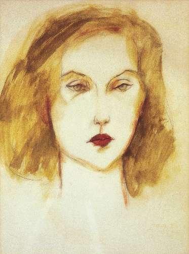 Retrato de Clarice feito pelo pintor Carlos Scliar. Foto faz parte do livro