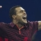 Jo-Wilfried Tsonga venceu Juan Carlos Ferrero por por 2 sets a 0, com parciais de 6/3 e 6/4