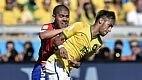 O time sente a falta de Neymar, que voltou para o segundo tempo apagado