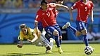 O Brasil consegue dominar o Chile após o primeiro gol