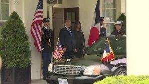 Trump recebe Macron