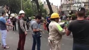Solidariedade transborda após terremoto no México