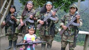 Teenagers recruited by the FARC