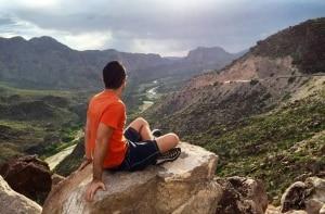 Trilhas e montanhas do parque nacional