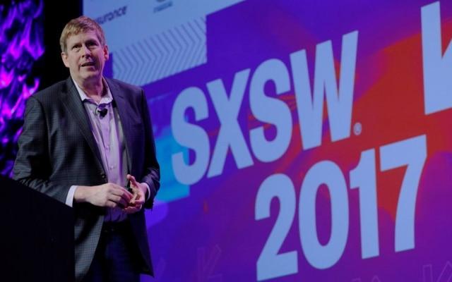 Hugh Forrest, diretor de programação do SXSW, durante a abertura do festival, que começou ontem em Austin, Texas