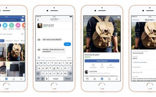 Facebook lança seu próprio marketplace para usuários no Brasil