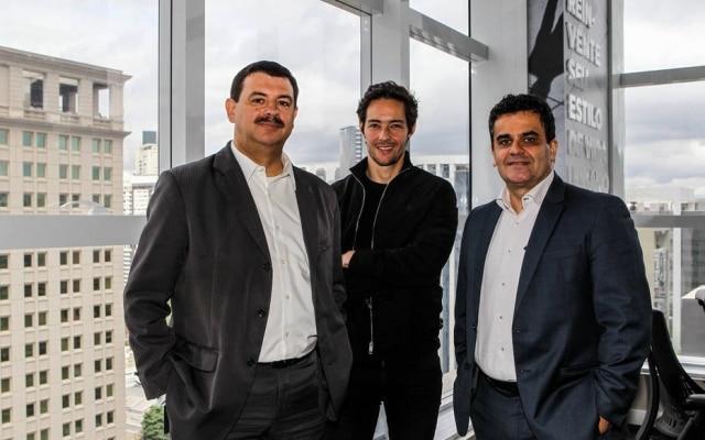 Frankel, da Vitacon (Centro), ao lado de Mauricio Ruiz, diretor-geral da Intel Brasil e Carlos Tunes, executivo de Watson da IBM America Latina
