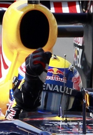 Mark Webber durante o GP do Brasil