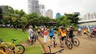 Parque é ponto de encontro de tour de bike