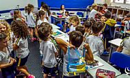 Lanche com alunos do Infantil e Fundamental