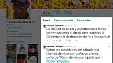 O governador de Miranda, Henrique Capriles, confirmou no Twitter sua participação na marcha antichavista convocada por Leopoldo López - Reprodução