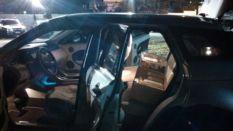Carro foi apreendido em estacionamento de fast food - Divulgação