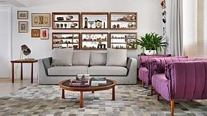 Sala de estar em apartamento com projeto da arquiteta Ana Yoshida - Sidney Doll/Divulgação