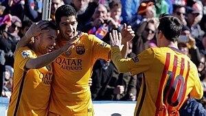Suárez definiu a vitória do Barcelona - Juan Carlos Cárdenas/EFE