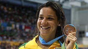 Joanna Maranhão foi bronze no Pan de Toronto - Reuters