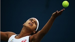 Teliana Pereira é eliminada na primeira rodada do US Open - Streeter Lecka/ AFP