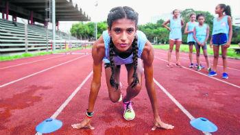 A atleta Aylana é uma promessa do atletismo - Foto: Amanda Perobelli/Estadão