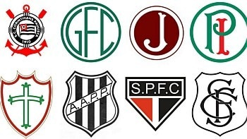 Confira a evolução dos escudos dos principais clubes paulistas