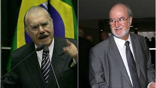 Sarney e Azeredo apoiam Dilma e Aécio, respectivamente - Montagem Estadão