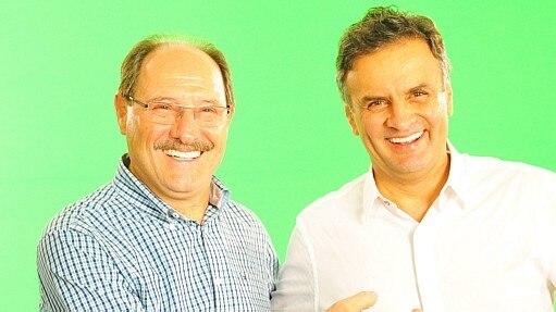 Aécio e Sartori - Luiz Chaves/Divulgação