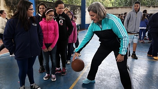 Branca, mais uma vez, colaborarou no projeto 'Esporte em Ação' - Hélvio Romero/Estadão