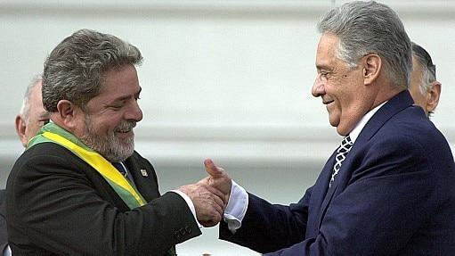 Lula e FHC durante a posse do líder petista - Celso Junior/Estadão