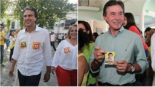 Candidatos disputam segundo turno - Montagem Estadão
